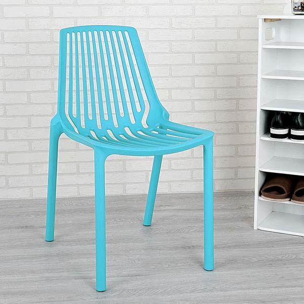 餐椅椅子休閒椅洽談椅【Yostyle】摩登時尚造型椅(湖水藍)