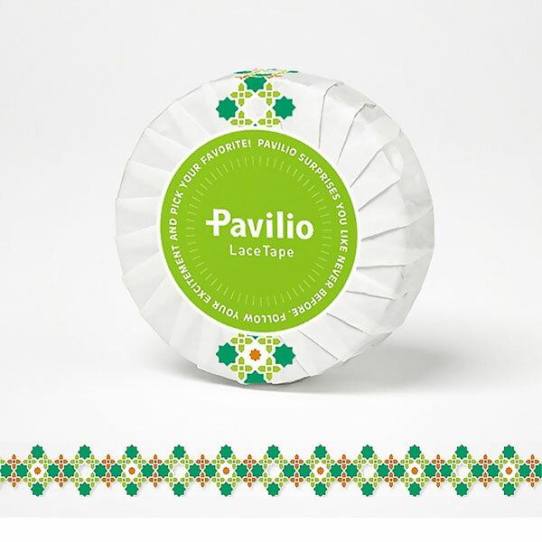 【日本Pavilio】風格膠帶Standard系列F-ST03SG綠系刺繡捲