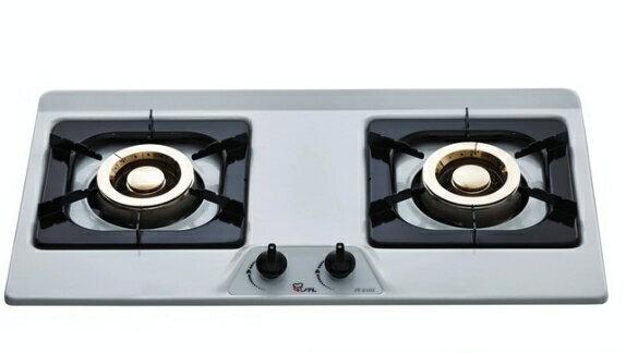 喜特麗   歐式雙口檯面爐   JT-2102(桶裝瓦斯 )