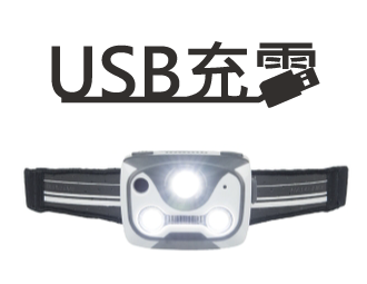 Nathan  速跑/288流明/ USB充電/ 感應式頭燈 NA5104NW