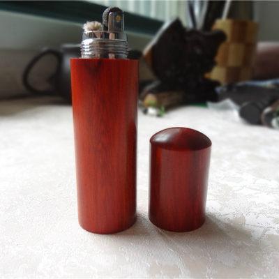 自製紅檀木工藝打火機
