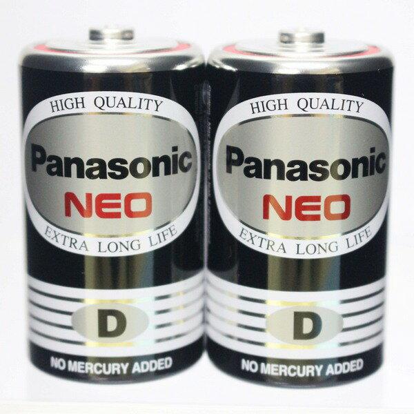 Panasonic 國際牌 D-1號環保電池(黑色)/一小包2個入{促75} 1.5V 1號電池
