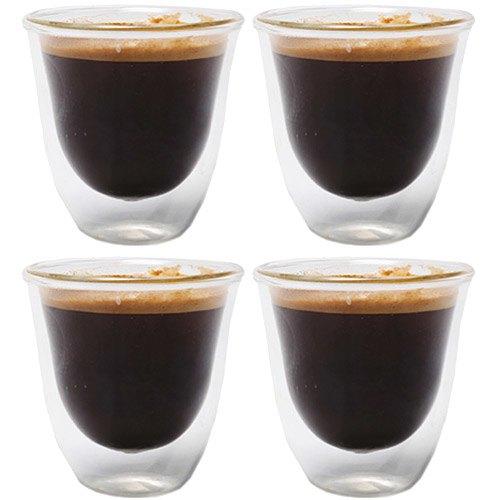 《CreativeTops》Cafetiere雙層玻璃濃縮咖啡杯4入(60ml)