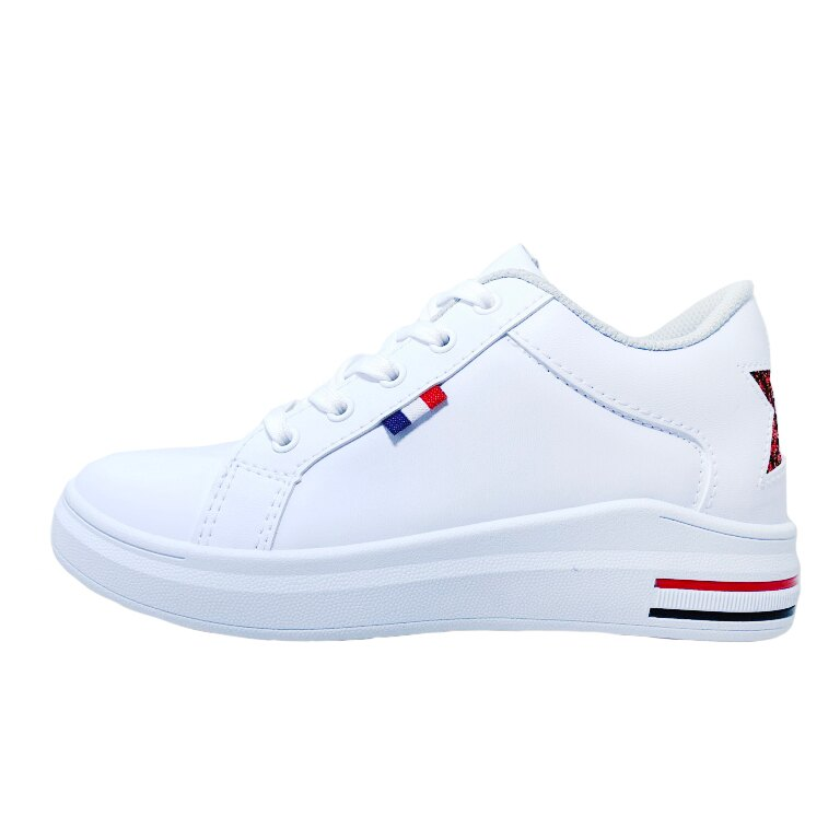 【滿額領券↘折$120】女款星星3cm內增高休閒鞋 [18099] 白 MIT台灣製造【巷子屋】