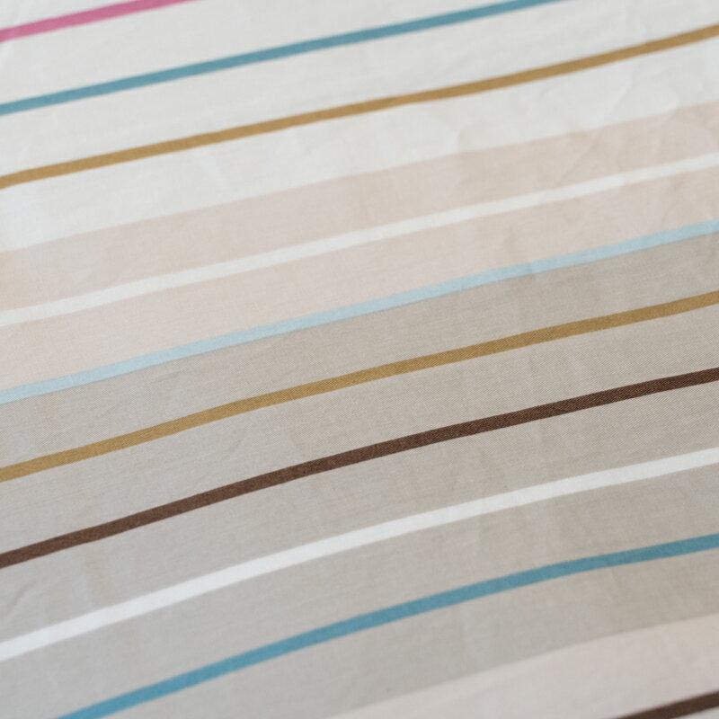 文青藍線條   單人/雙人熱賣組 100%精梳棉 台灣製 5
