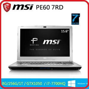 MSI 微星 PE60 7RD-274TW-SS7770H8G1T0DS10MH 15.6吋筆電i7-7700HQ(Base 2.8GHz)/8GB/256G SSD+1TB 7200轉/ GTX 1..