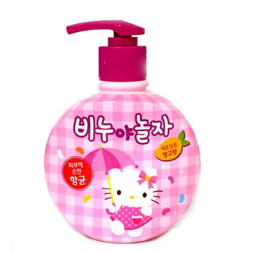 X射線【C130713】Hello Kitty洗手乳-芒果香300ml,沐浴乳/香皂禮盒/交換禮物/母親節/情人節/禮物/香氛