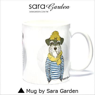客製 彩繪 馬克杯 Mug 手繪 潮流 雪納瑞 毛孩子 咖啡杯 陶瓷杯 杯子 Sara Garden手作【M0320026】