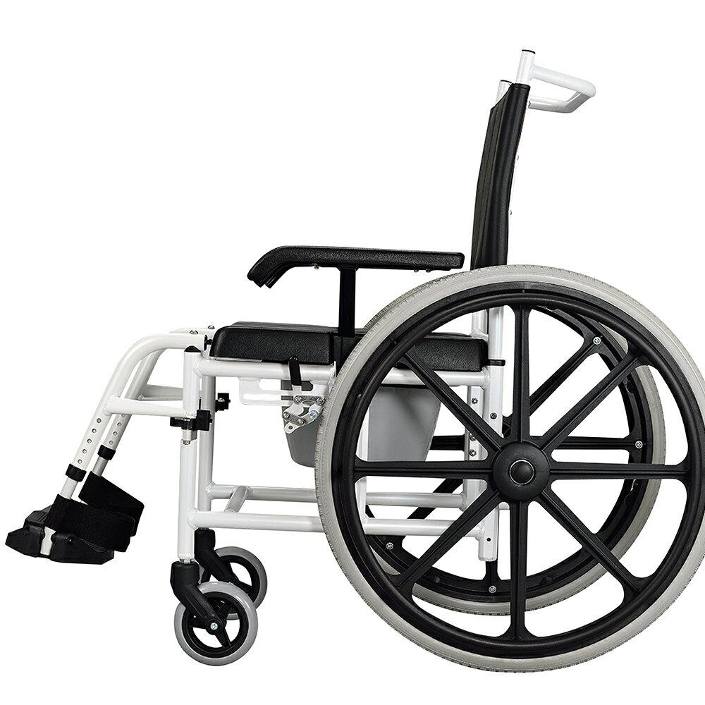 【樂活動】手推移位型附輪洗澡馬桶椅 0