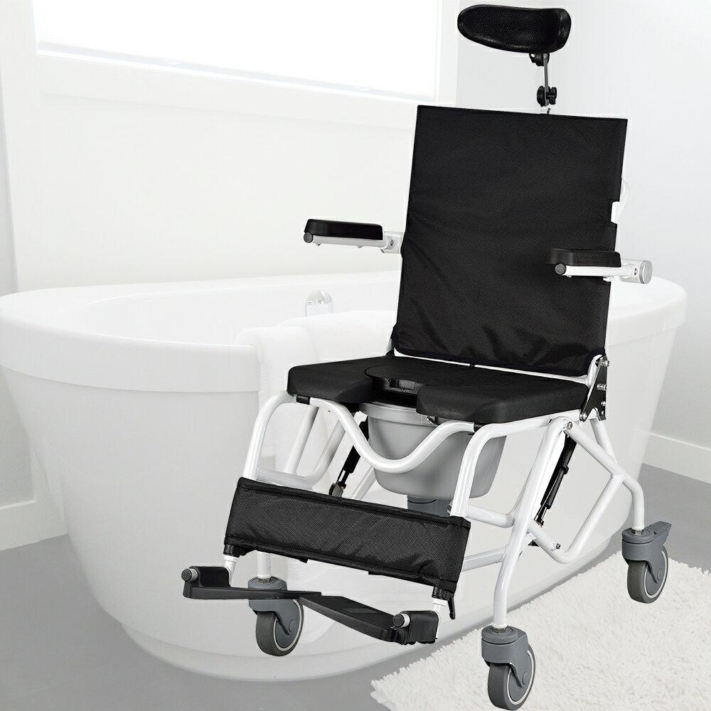 【樂活動】可傾式附輪洗澡馬桶椅 0