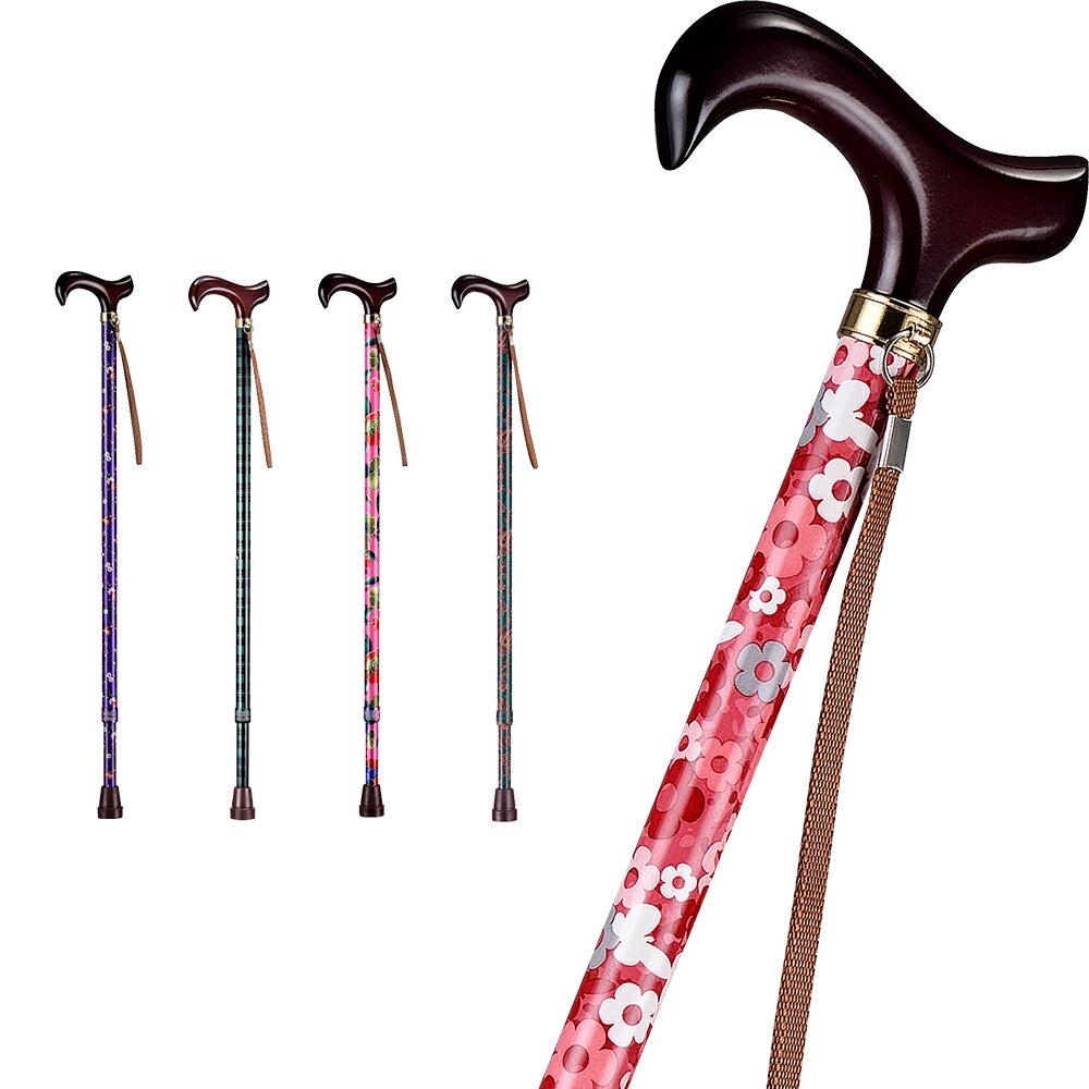 【樂活動】T字調整手杖(木質握把) 0