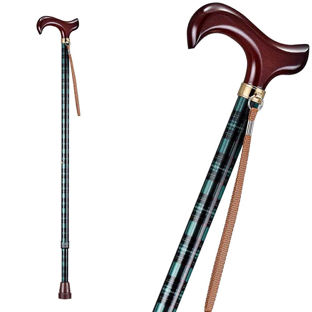 【樂活動】T字調整手杖(木質握把) 3