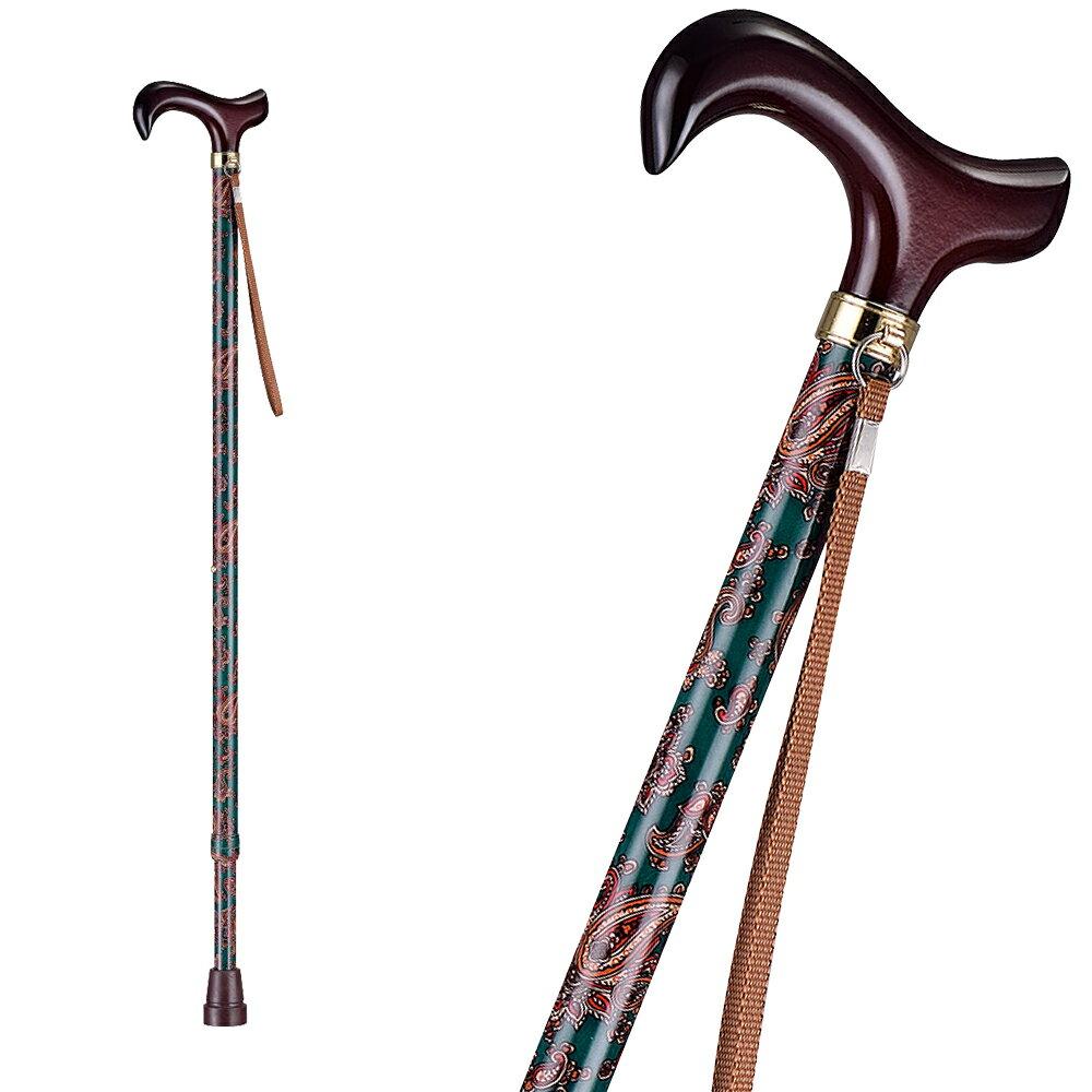 【樂活動】T字調整手杖(木質握把) 4