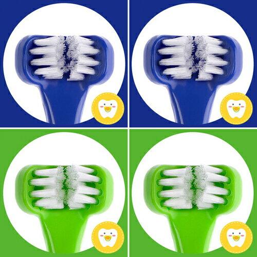 兒童專用三面式牙刷《藍綠寶貝4入組》Dr. Barman's Superbrush.兒童牙刷.懶人牙刷.挪威原裝進口【樂活動】 0