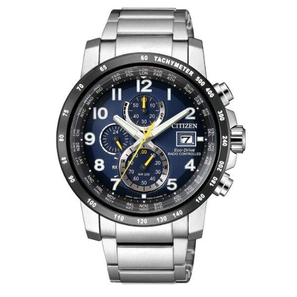CITIZEN星辰錶AT8124-91L高科技品味電波光動能腕錶藍面43mm