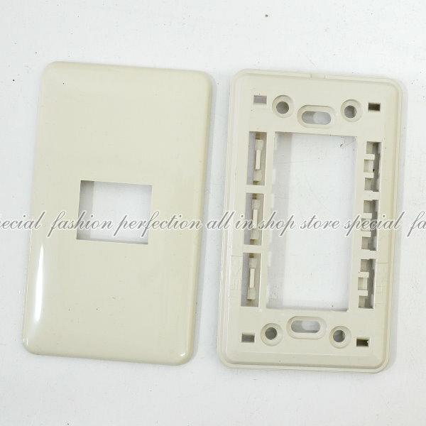 豪華歐風蓋板1孔3701開關面板 卡式開關蓋板 插座蓋板【6350B】◎123便利屋◎