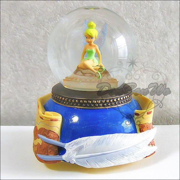 迪士尼小精靈LED發光雪花音樂水晶球077859海渡