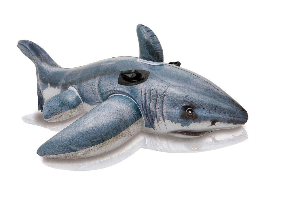 歐美 鯊魚造型充氣水上騎乘坐騎玩具 泳圈