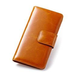☆皮夾 長夾 純色零錢包-復古簡約多卡位兩折女包包4色73eb85【義大利進口】【米蘭精品】