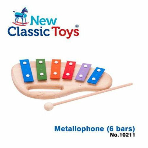 免運費《荷蘭NewClassicToys》幼兒6音彩虹敲敲鐵琴-10211