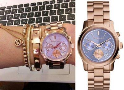 美國Outlet 正品代購 Michael Kors MK 三環 螢光紫精鋼 滿鑽 手錶 腕錶 MK6163 2