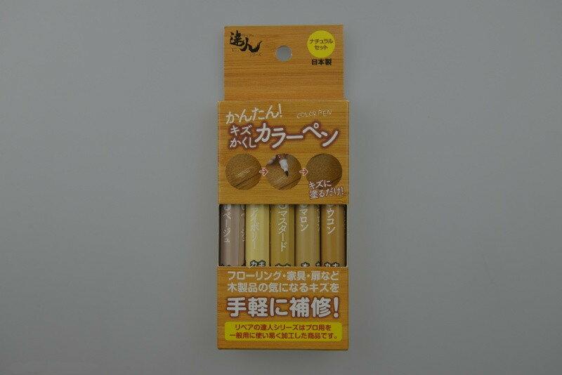 日本高森隱藏刮痕的彩色修補筆 (5色一組)RPN-30