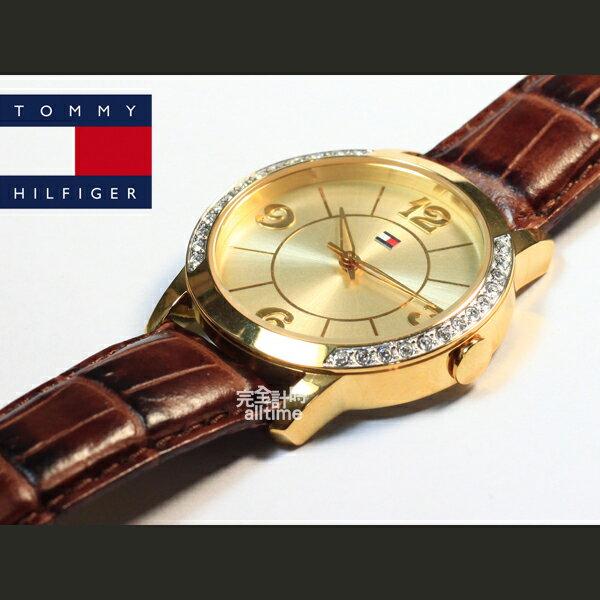【完全計時】手錶館│Tommy Hilfiger 都會美型 時尚玫瑰金鑽框 推薦女錶 WY-1780562