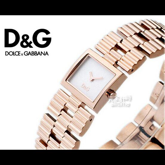 【完全計時】手錶館│D&G經典鍊帶玫瑰金 情人款時尚淑女 推薦DW0341