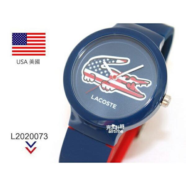 【完全計時】手錶館│Lacoste 國旗系列世足賽熱血激戰腕錶 國旗系列L2020073 美國