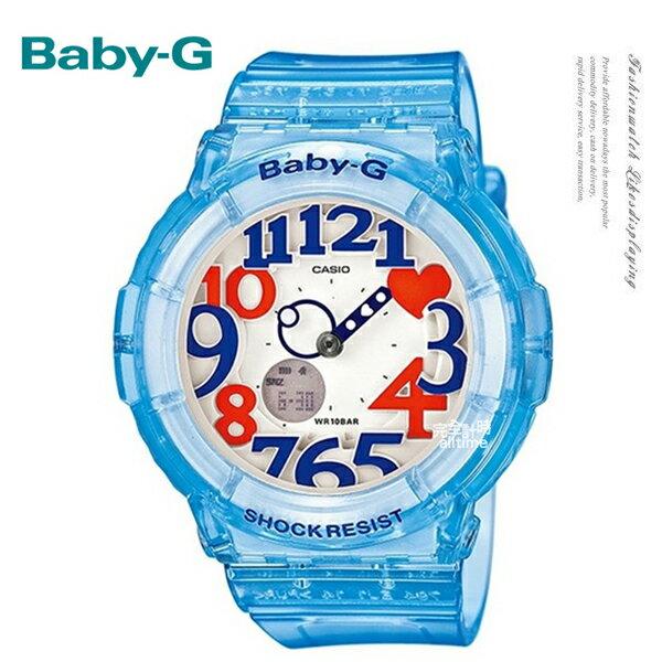 【完全計時】手錶館│ Baby-G 超人氣夏日霓虹照明系列 BGA-131-2BDR夜光/PK/少時現貨 果凍藍