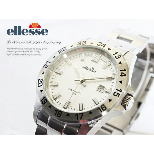 【完全計時】手錶館│ ellesse 極簡經典運動腕錶 03-0672-501 白/男錶 全新對錶