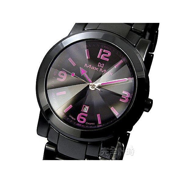 【完全計時】手錶館│Max Max 極緻完美立體鑽石鏡面陶瓷錶 數刻款MAS5080對錶