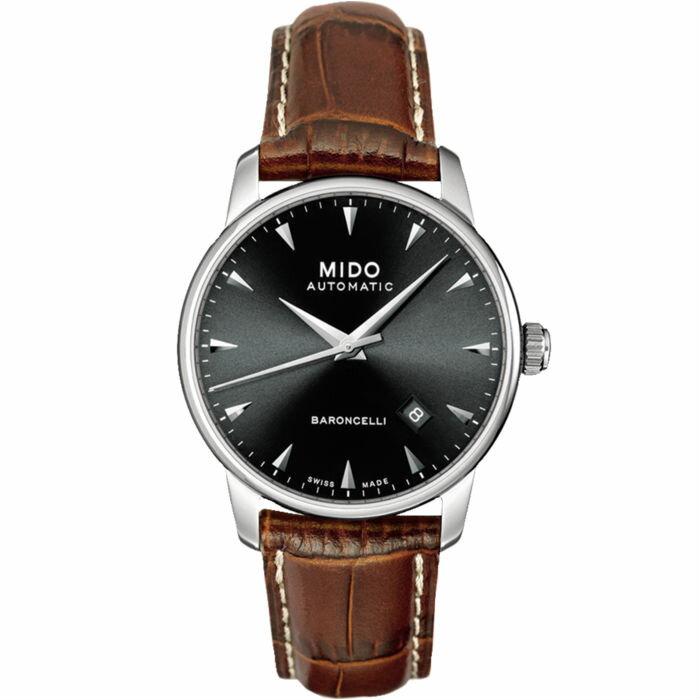 Mido 美度錶 M86004188 Baroncelli系列瑞士簡潔內斂真皮腕錶  / 38mm - 限時優惠好康折扣
