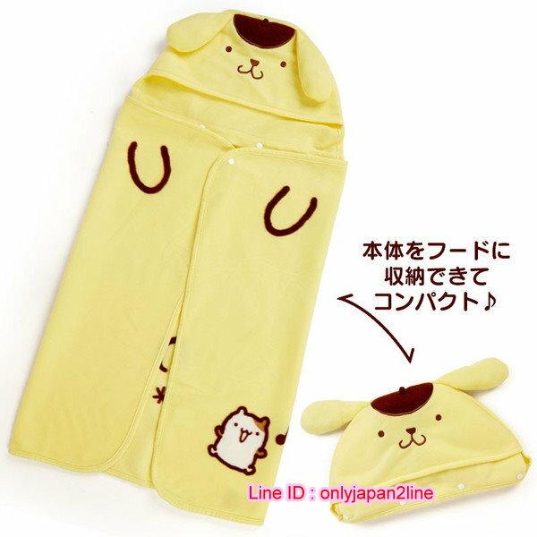 【真愛日本】16110400016造型可拆連帽披毯-PN   三麗鷗家族 布丁狗  毯子 毛毯