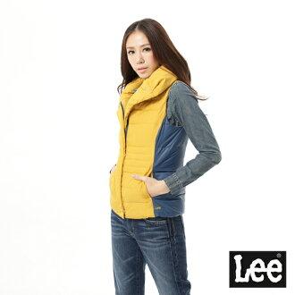 【秋冬商品 TOP ↘6折】Lee 羽絨背心-芥末黃
