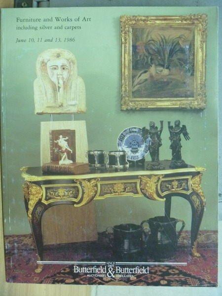 【書寶二手書T7/收藏_YGT】BB_1986/6/10-13_Furniture and work of Art…