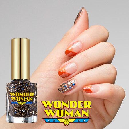 韓國 MISSHA WONDER WOMAN 絢爛凝光指彩釉 8ml 亮片 指甲油 神奇女俠 神力女超人【B061266】