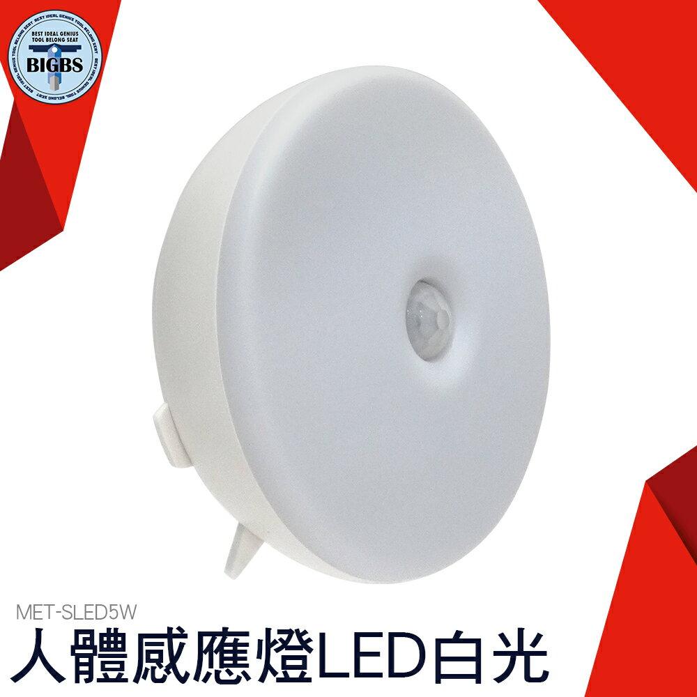 儀表量具 白光 人體感應燈LED小夜燈 家用 自動光控樓道走廊壁燈 SLED5W
