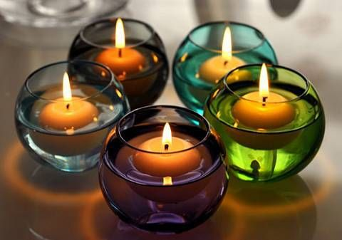 浮水蠟燭 結 婚生日浪漫 婚慶 臘燭套餐 无煙 1個入