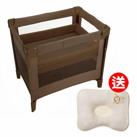 【悅兒樂婦幼用品?】Aprica 愛普力卡 嬰兒床 COCONEL AirPlus 任意床Plus-松露棕【送辛巴 有機棉專利透氣枕】