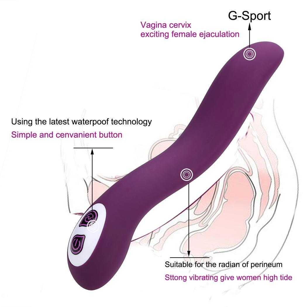 Adult Sex Toy Masturbation Toy Waterproof 7-Frequency Vibration G-spot Massager USB Rechargeable 3