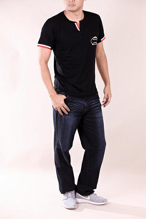 【CS衣舖 】加大尺碼 韓系 合身版 萊卡彈力 短袖T恤 2L-3L 7204 4