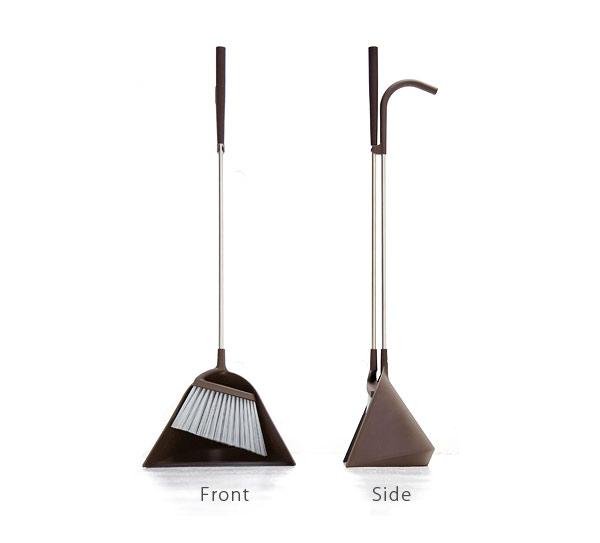 【日本TERAMOTO】tidy簡約設計掃把畚斗組-灰白色 3