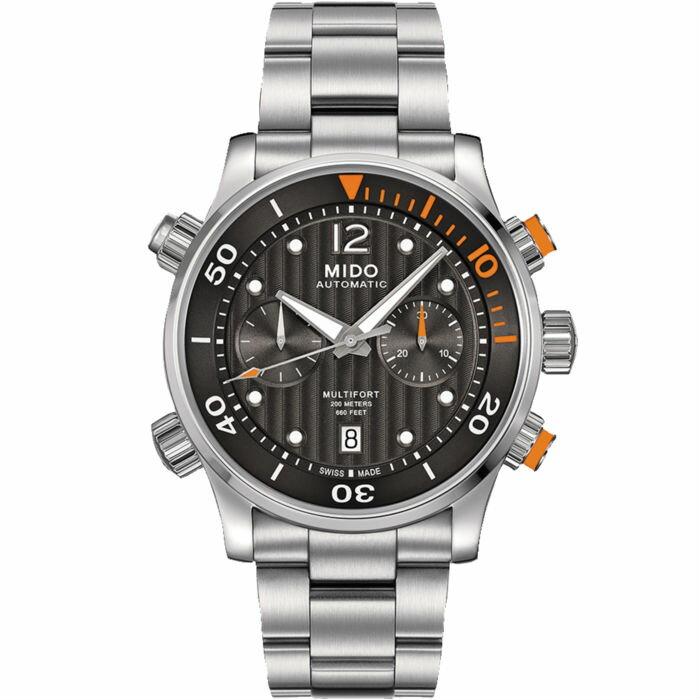 Mido 美度錶 M0059141106000 Multifort 夜光防水雙錶冠腕錶    / 44mm - 限時優惠好康折扣