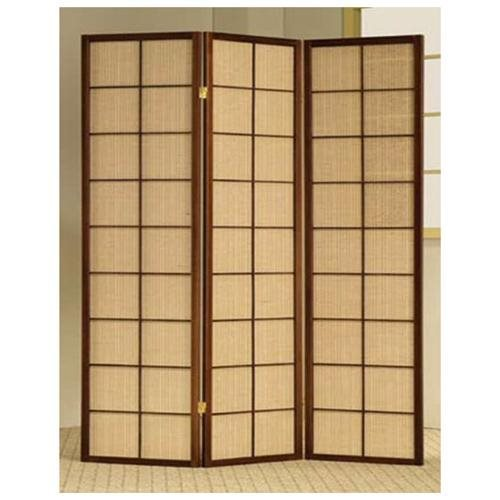 3 Panel Rattan Screen Room Divider