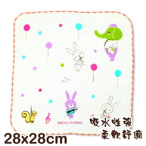 可愛動物純棉紗布方巾 動物樂團印花 平價高品質的選擇 台灣製