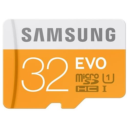 Samsung EVO 32GB microSDHC Class 10 32G microSD micro SD SDHC 48MB/s UHS-I C10 MB-MP32DC with Original USB 2.0 Card Reader 2