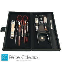 Deluxe 10 Piece Manicure Set with Carrying Case by Refael Collection