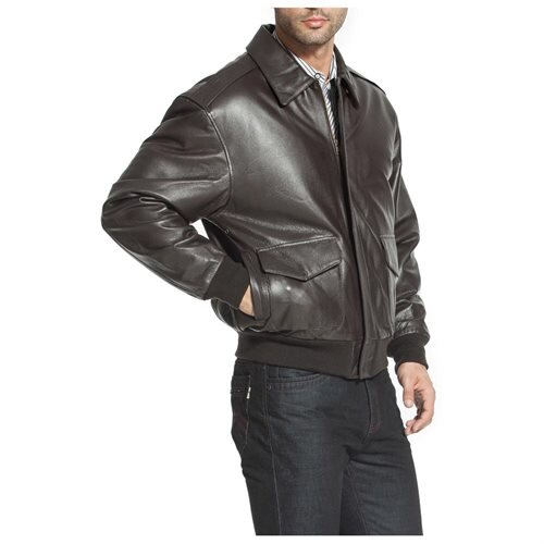 Landing Leathers Men's Air Force A-2 Leather Flight Bomber Jacket 2