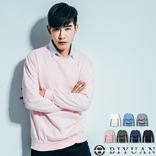 OBI YUAN韓版加厚重磅素面長袖T恤